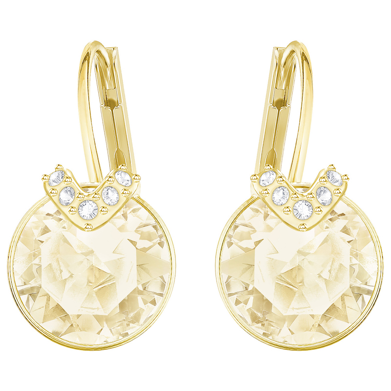 Swarovski Bella V Pierced Earrings Golden Gold Plating