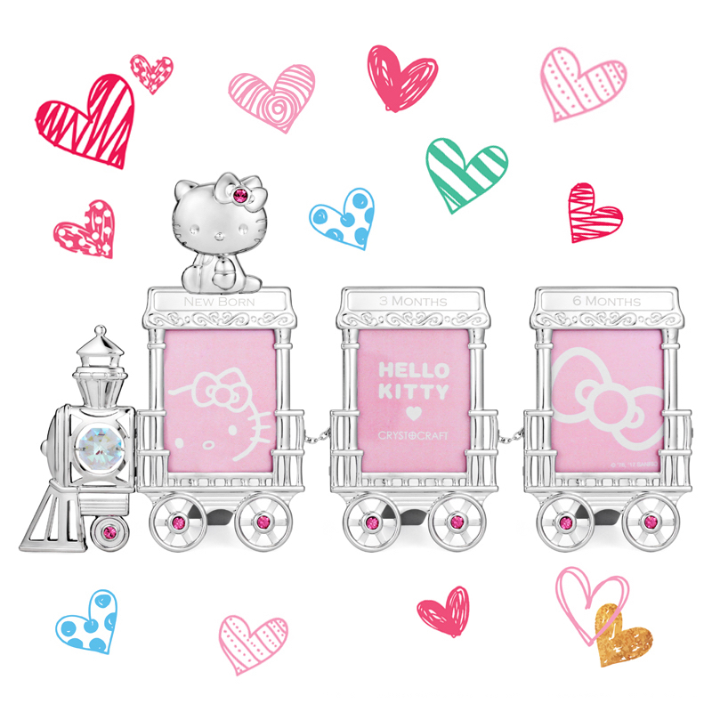 Hello Kitty Train Crystal Photo Frame | crystocraft.com