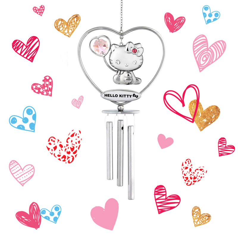 Hello Kitty Rosaline Crystal Wind Chime | crystocraft.com