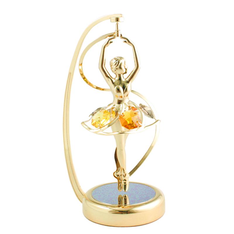 Spinning Crystal Ballerina Figurine