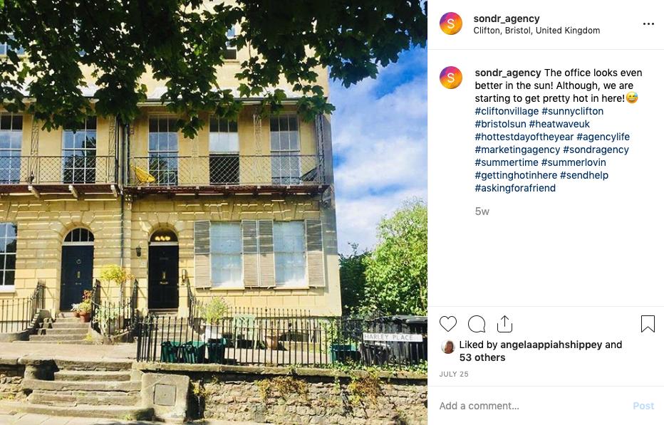 Sondr Agency Instagram