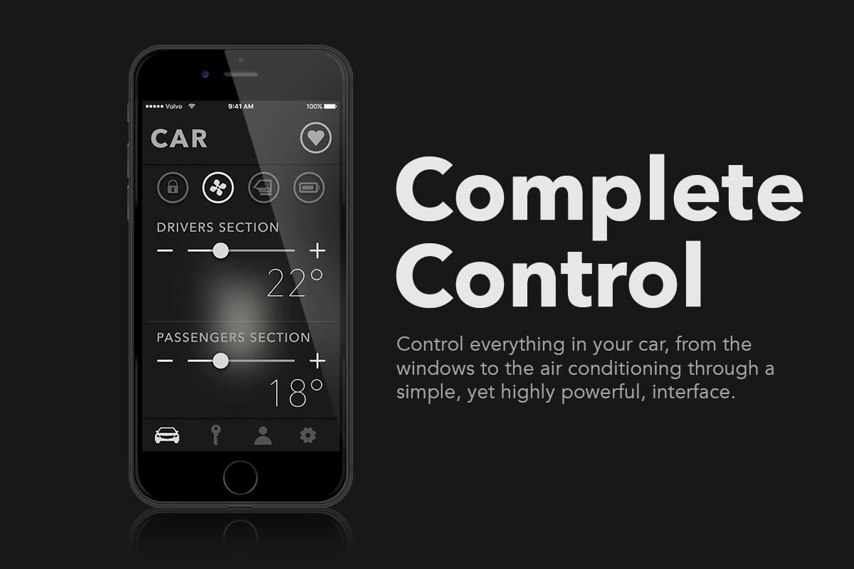 Control everything in your car, from the windows to the air conditioning, through a simple - yet powerful - interface.
