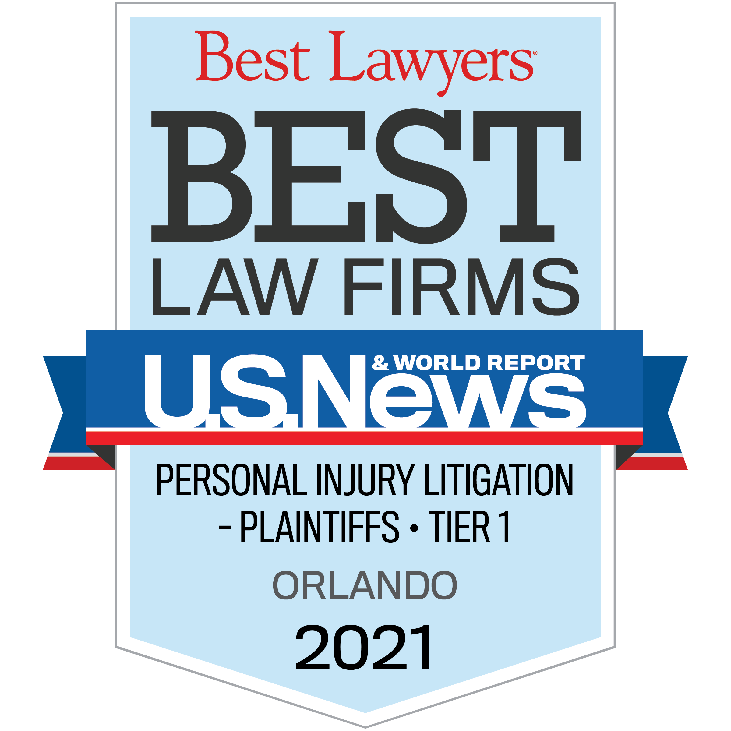 Best Lawyers Tier 1 - Personal Injury Litigation