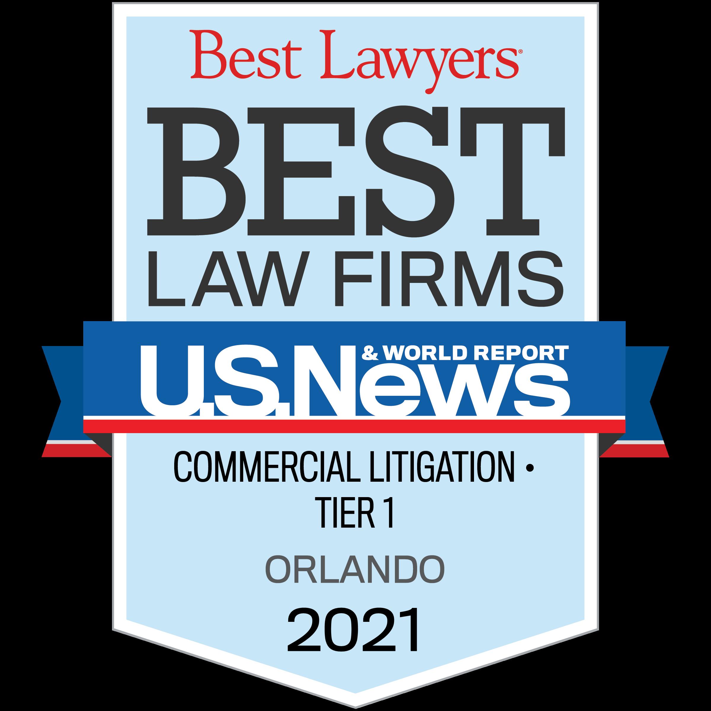 Best Lawyers Tier 1 - Commercial Litigation