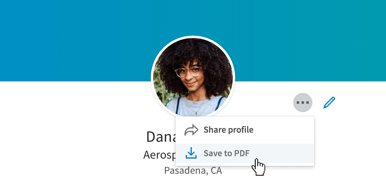 Convert your LinkedIn profile to a PDF Resume