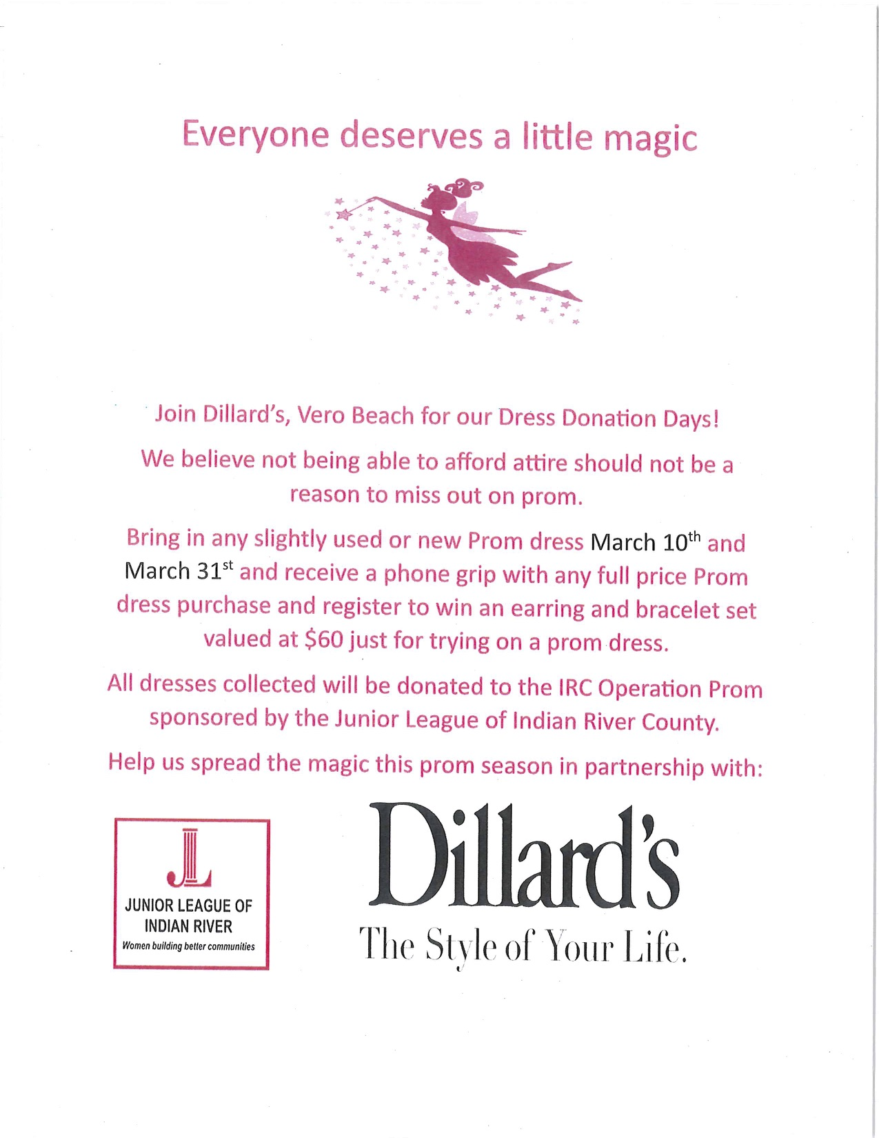 Dillards Prom Dress Donation Days