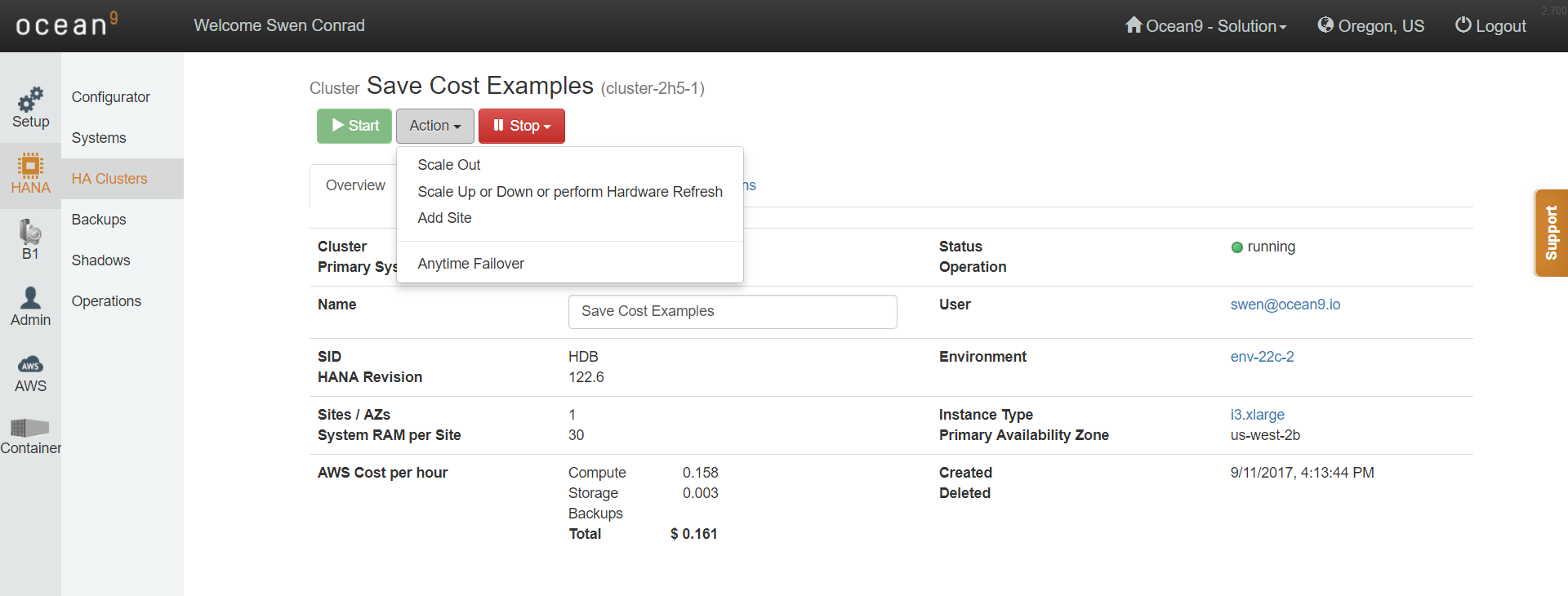 Multidimensional scaling for SAP HANA on AWS and Azure: Scale-up, Scale-out, Scale-down