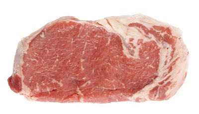 Raw meat for use in cooking custom homemade dog food.