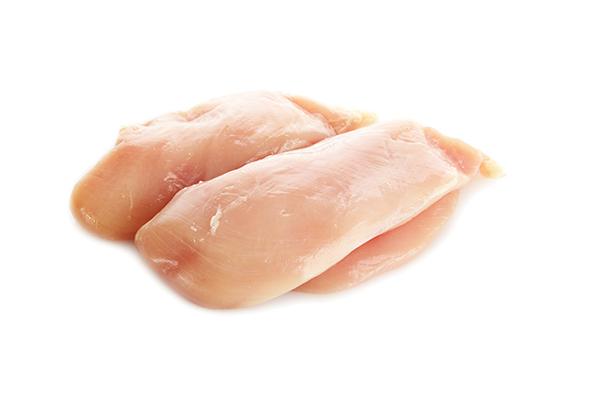 Raw chicken breast meata
