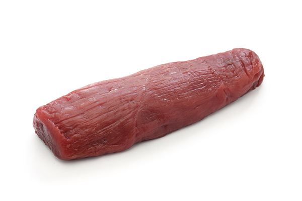 Raw venison meat for use in cooking custom homemade dog food.