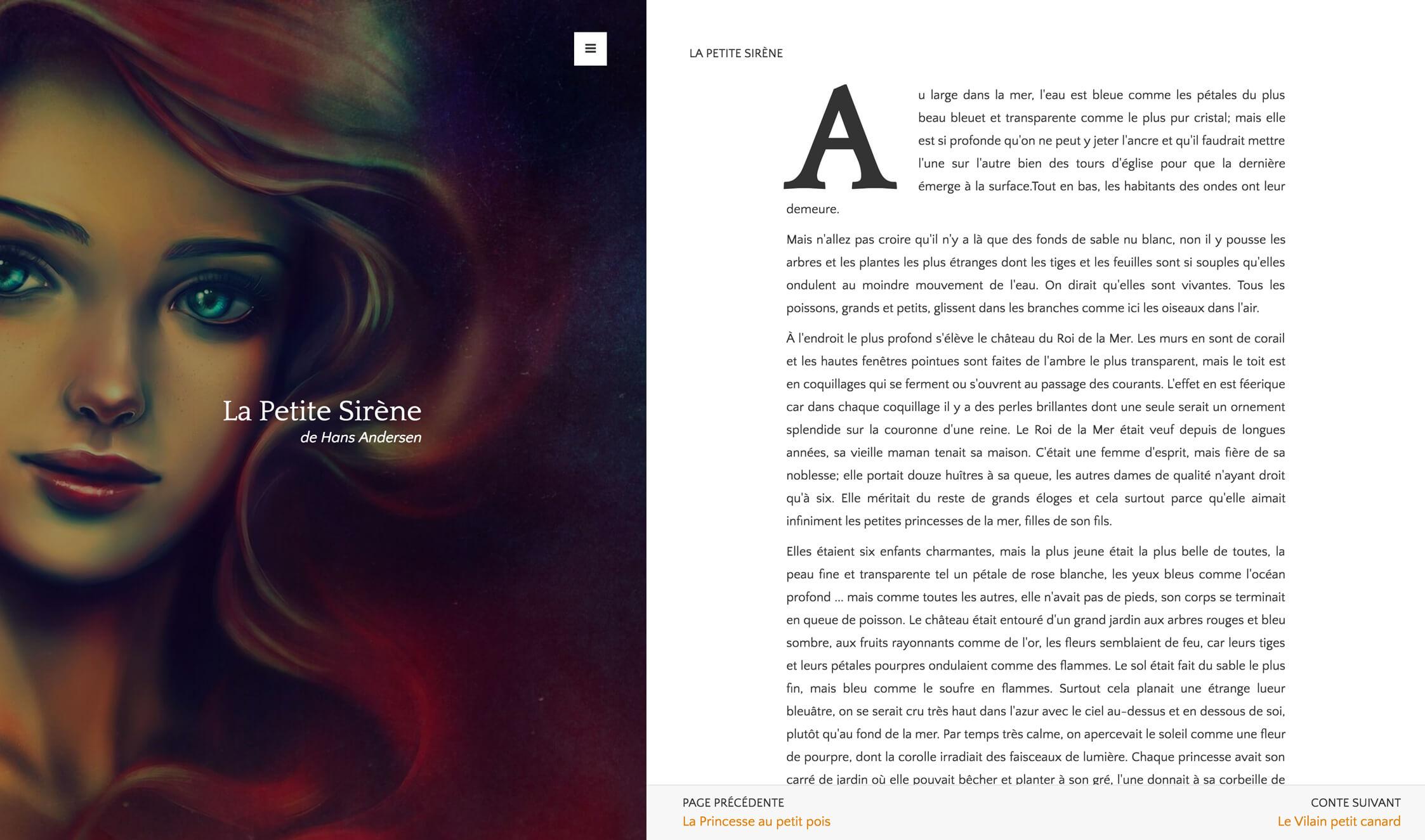 la petite sirène - blaise posmyouck, web designer