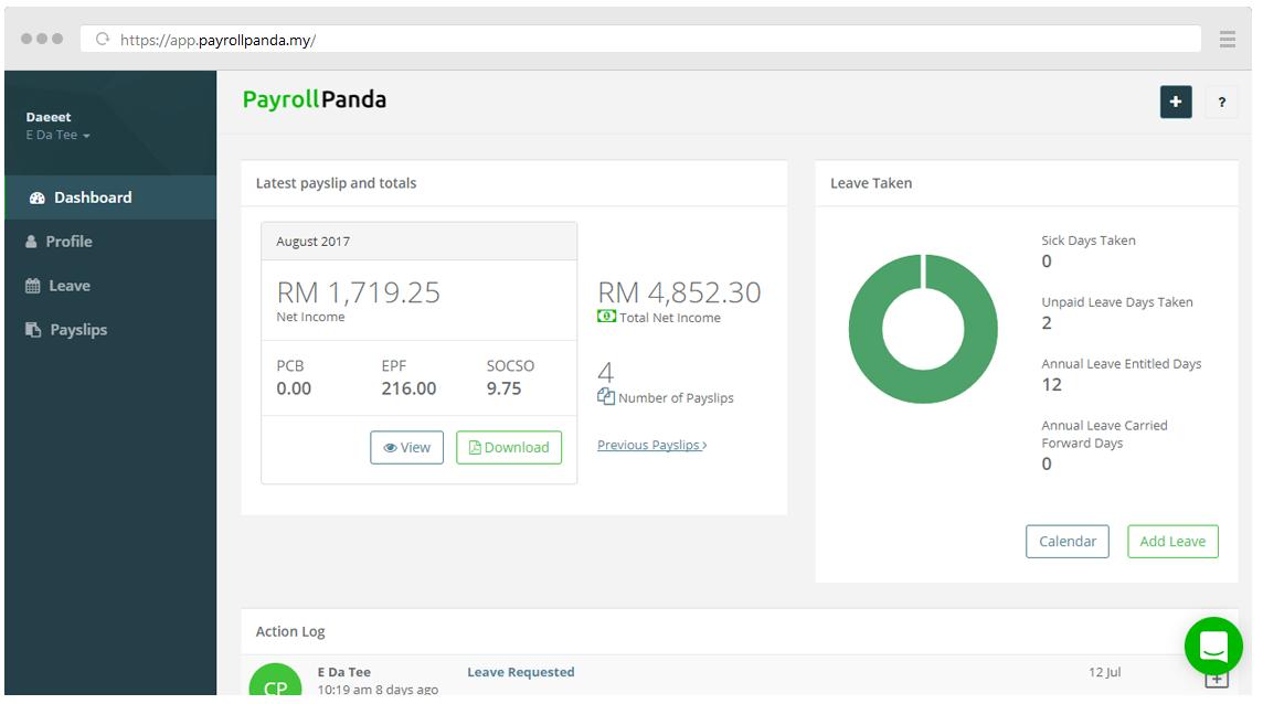 Employee Self Service | PayrollPanda