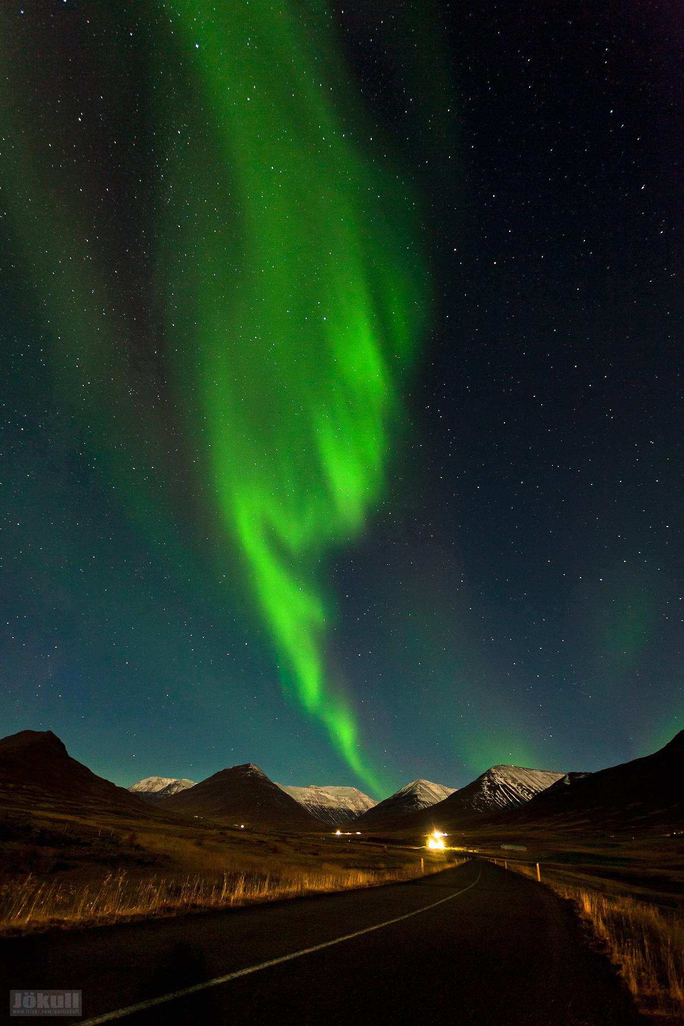 Aurora Borealis in Northern Iceland.