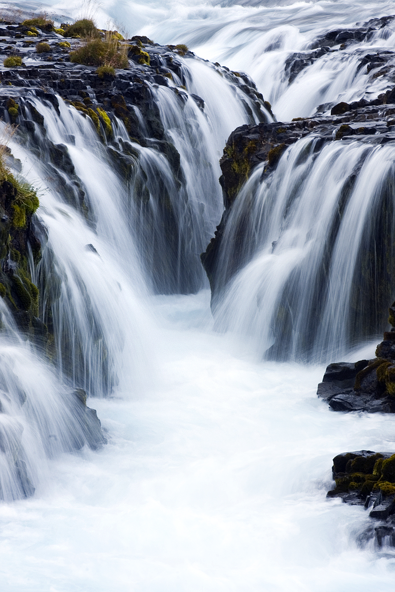 Bruarfoss waterfall in south Iceland.