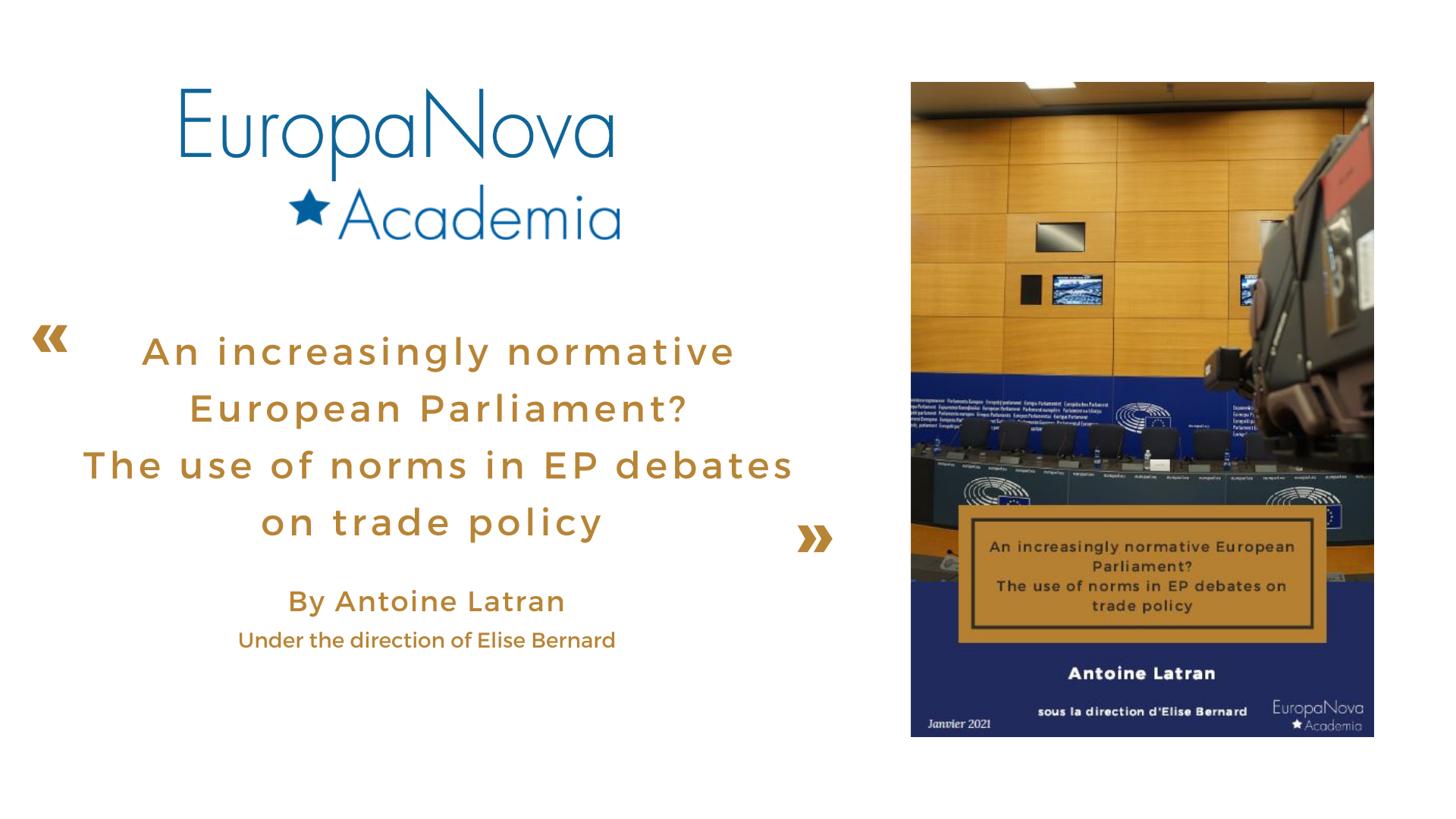 The normative role of the European Parliament in EU trade policy