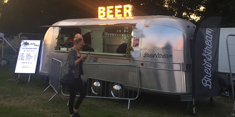 mobile bar at festival