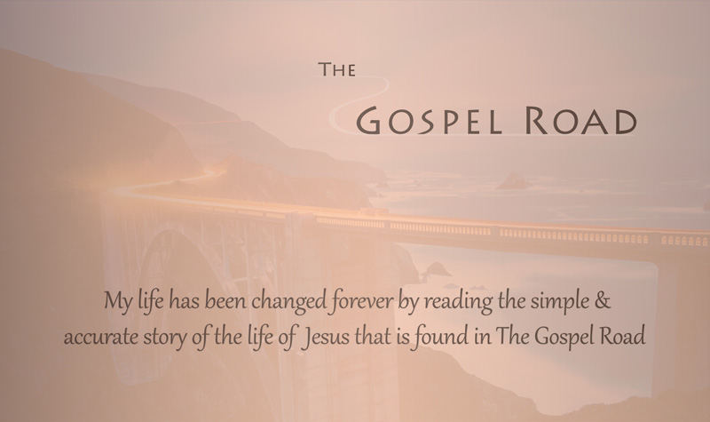 The Gospel Road marketing card - back