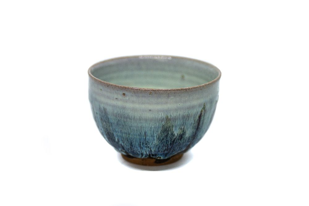 A handmade matcha bowl made in Karatsu, Saga, Japan.