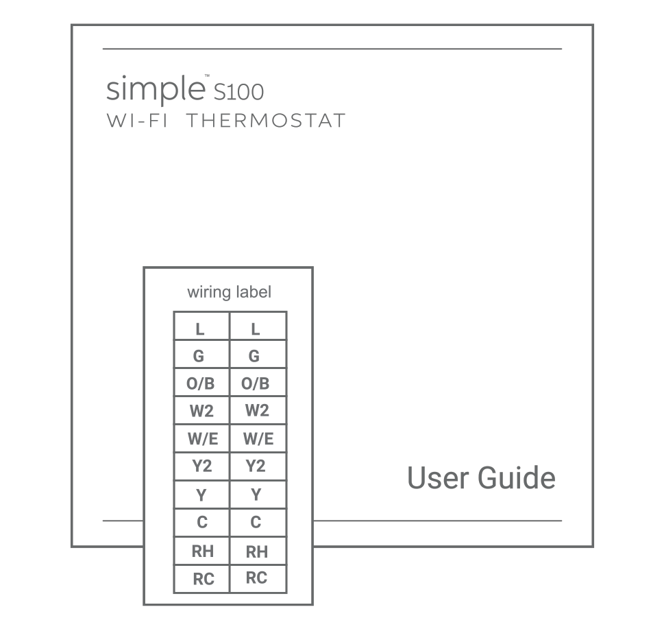 How To Install The Simple Thermostat S100 Wiring Diagram Labels