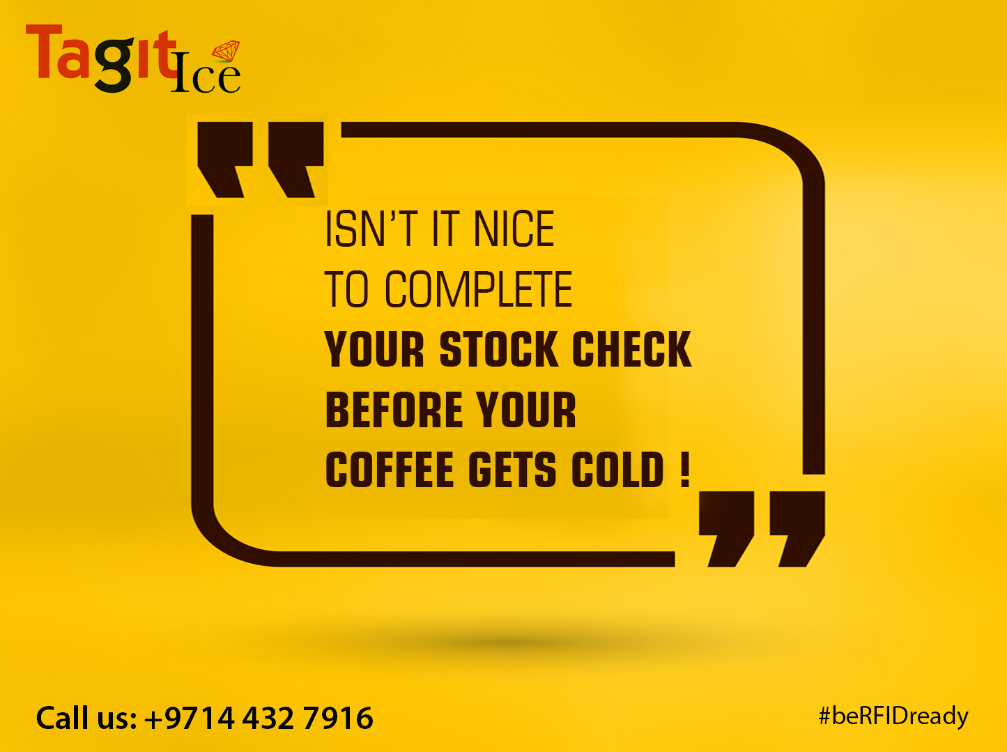 Stock check  before your  coffee gets cold!