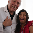 Thumbs up from Dr. Austin and his patient, Mission Trip to Chimbote, Peru