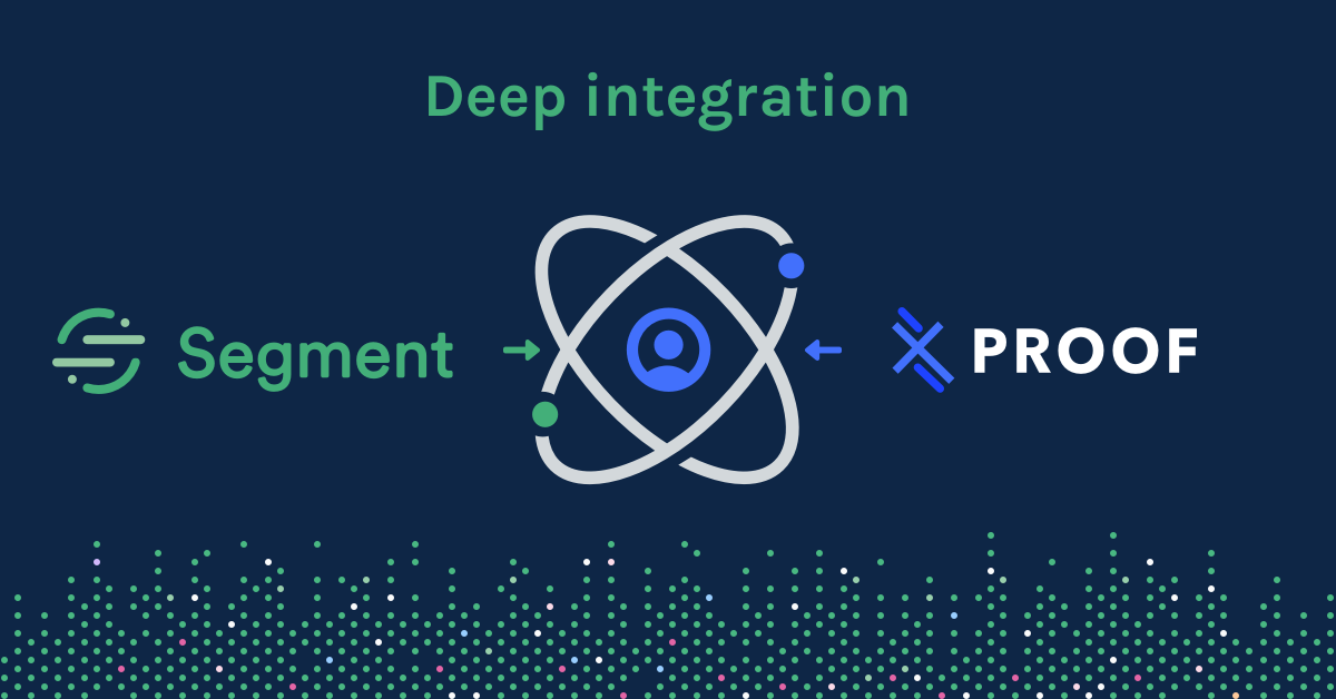 Deep integration between Segment and Proof Experiences