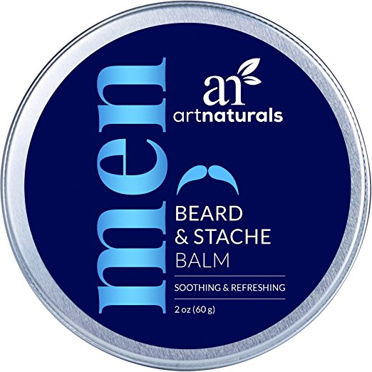 ArtNaturals Beard and Mustache Balm/Oil/Wax/Leave In Conditioner, 100% Natural Conditioning that Soothes Itching, Thickens, Strengthens, Softens, Tames and...