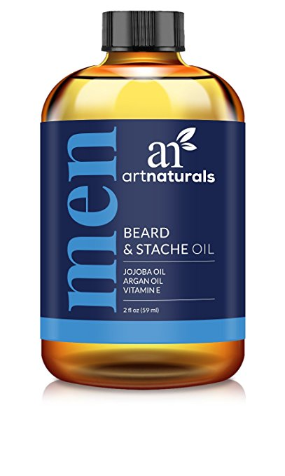 ArtNaturals Organic Beard Oil and Conditioner - 100% Pure and Natural Unscented - for Groomed Beard Growth, Mustache, Face and Skin - Softens Your Beard, Stops...
