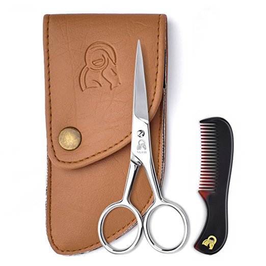 Beard & Mustache Scissors With Comb For Precise Facial Hair Trimming - Sharpness and Stainless Steel Give These Scissors Durability That Will Last, Order Your's Now!