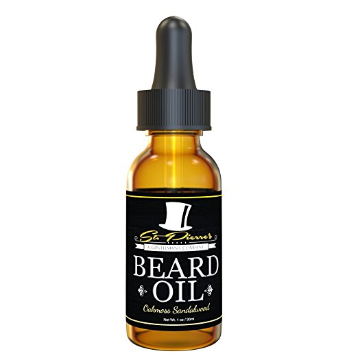Best Sandalwood Beard Oil - Conditioner & Softener for Men - Stronger Scent Oils, Includes Argan and Jojoba - Available in 1 & 2 oz