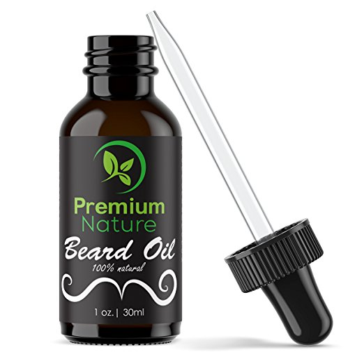 Beard Oil Conditioner for Men - Beard Balm Leave In Conditioner for Mustache & Beard Growth - Soften Soothe & Moisturize Skin & Hair - Castor Jojoba Almond & More