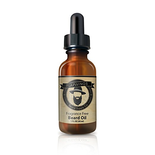 Flapwings Beard Oil Unscented for Men   Best Beard Care Grooming Product for Mustache & Goatee   Facial Hair Moisturizer, Conditioner and Softener   Growth Oil for...