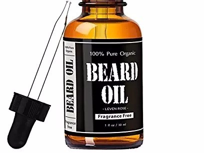 Leven Rose Fragrance Free Beard Oil and Leave-In Conditioner, 1 fl. oz