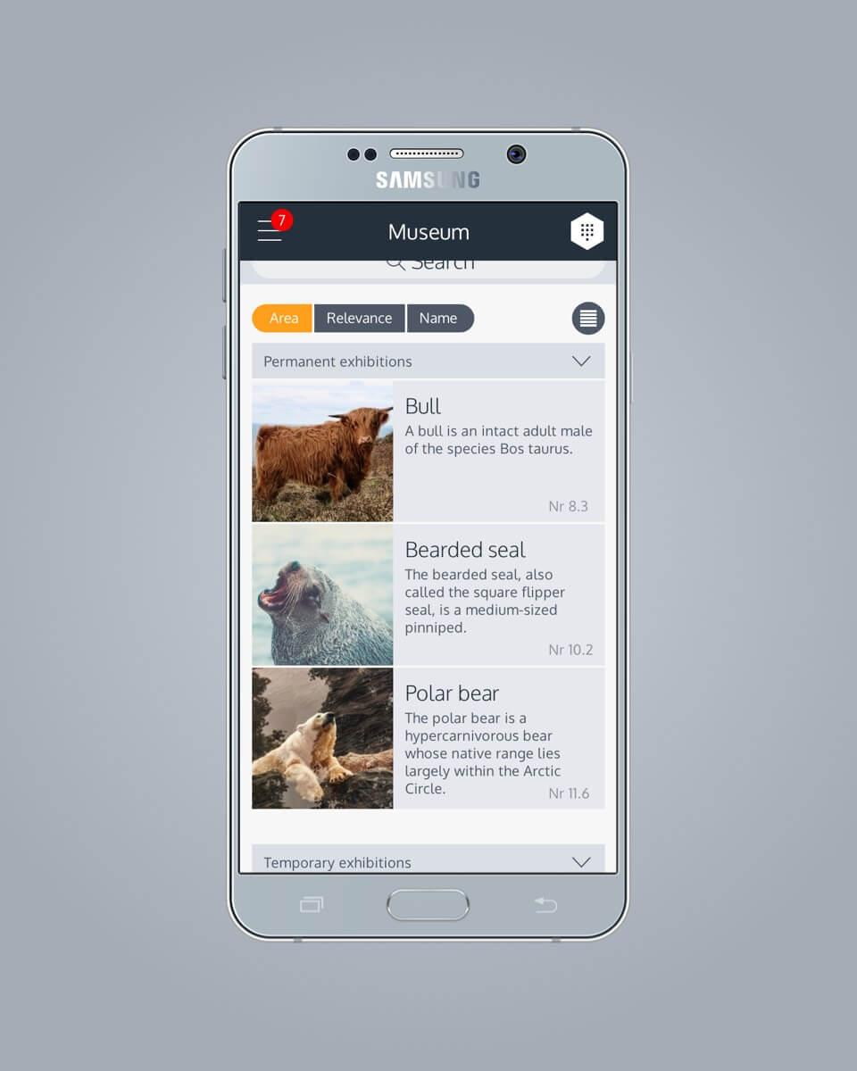 Shoutr Labs museum app design