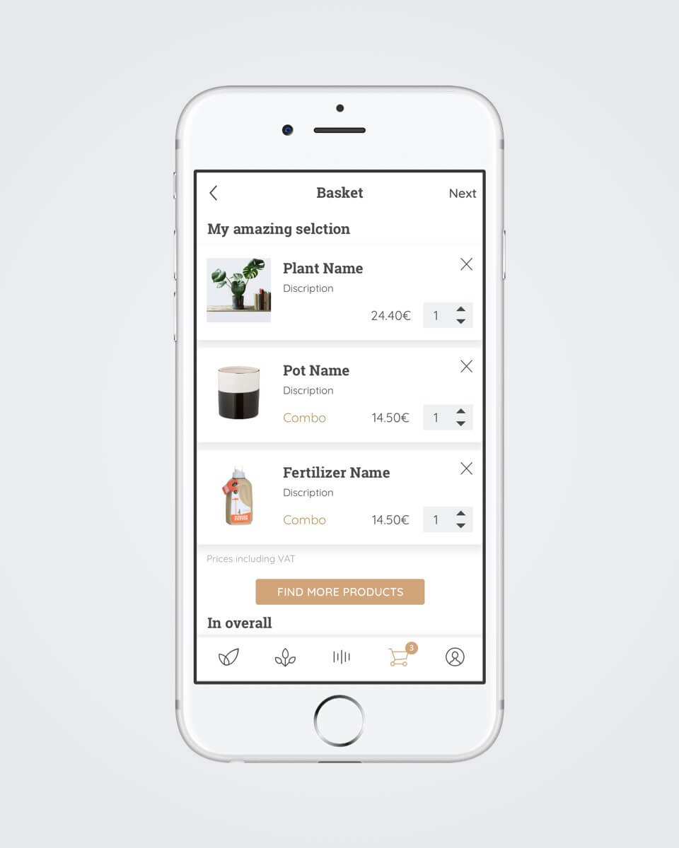 Botanicly plants advisor mobile app design