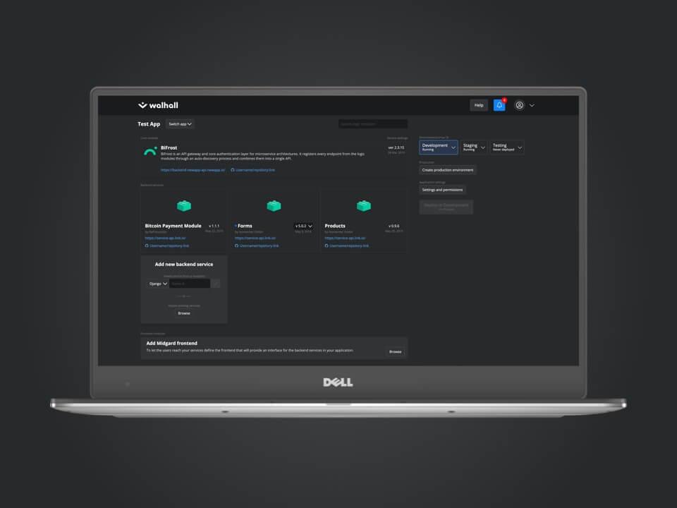 Walhall developer tool user experience design