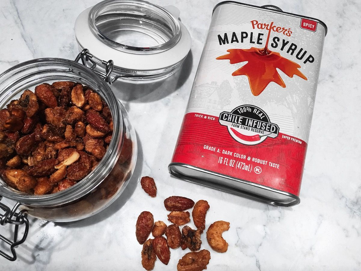 Spiced Maple Roasted Nuts (Paleo, Refined Sugar-Free)