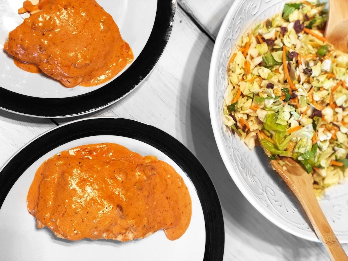 Creamy Tomato Salmon Planks (Paleo, Keto)