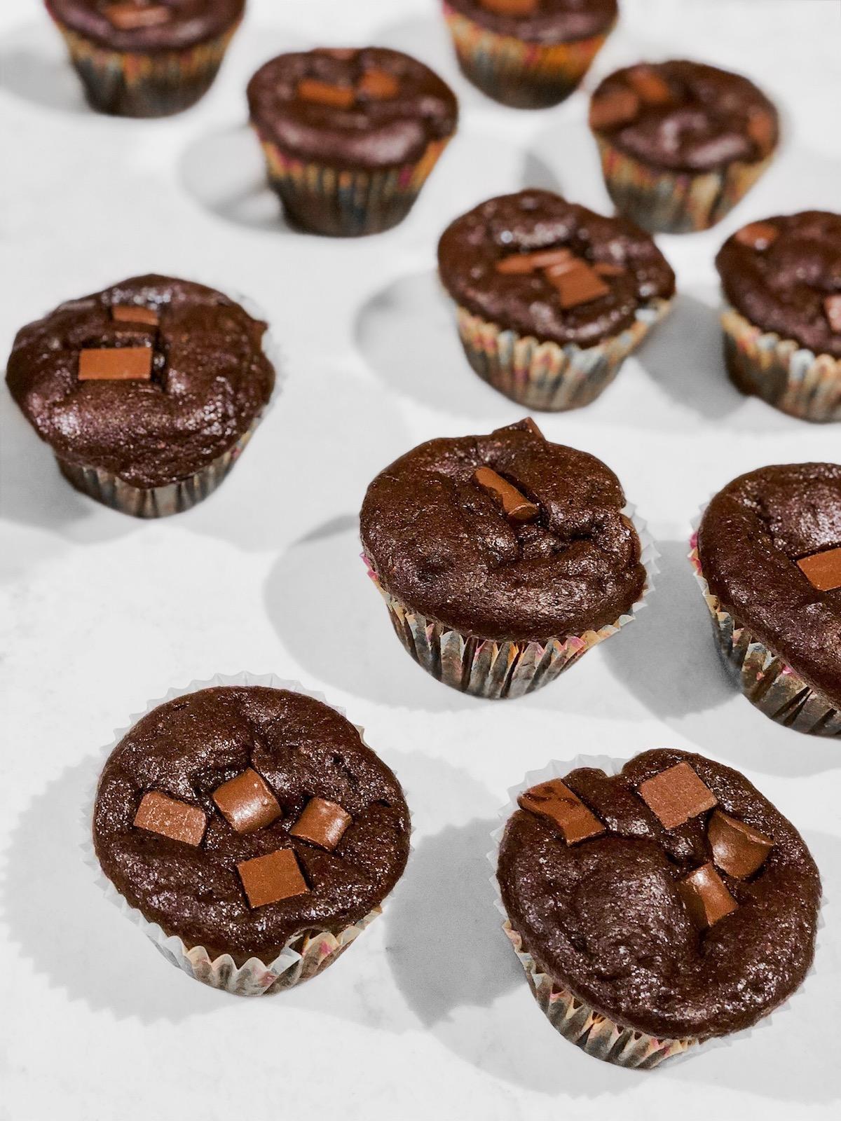 Chocolate Chunk Protein Cupcakes