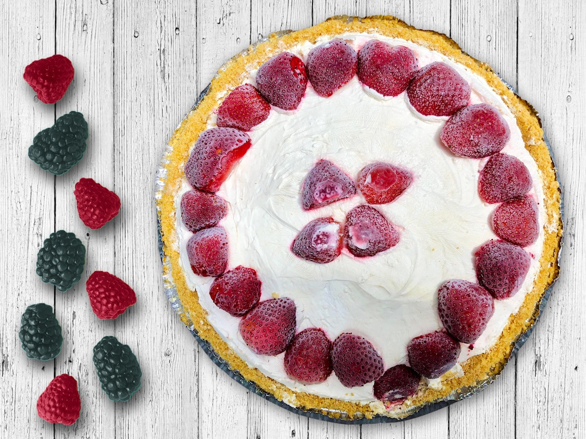 Strawberry & Coconut Cream Tart
