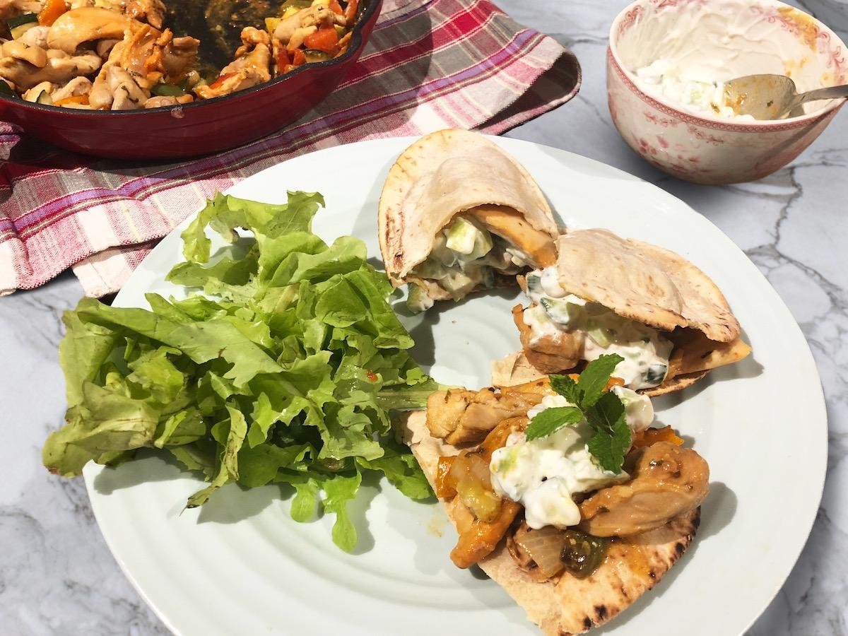 Paleo Chicken Gyros w/ Dairy-Free Tzatziki