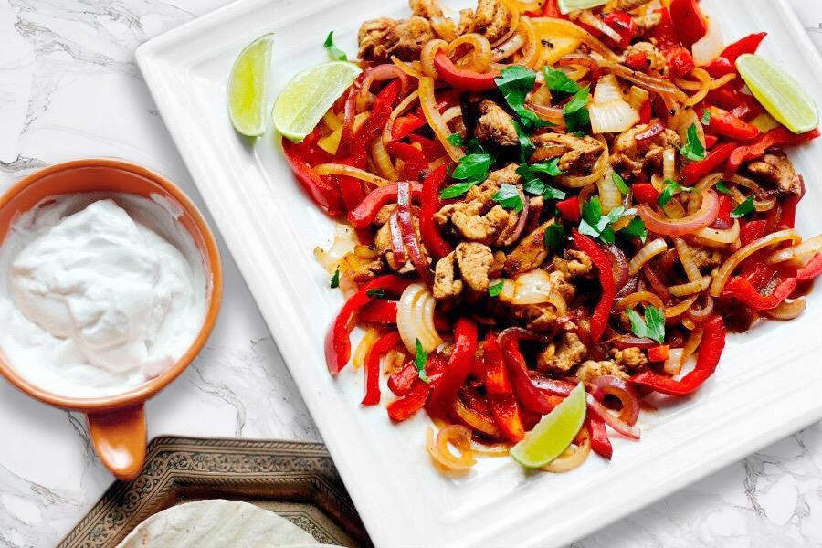 Sheet Pan Chicken + Fiesta Veggies