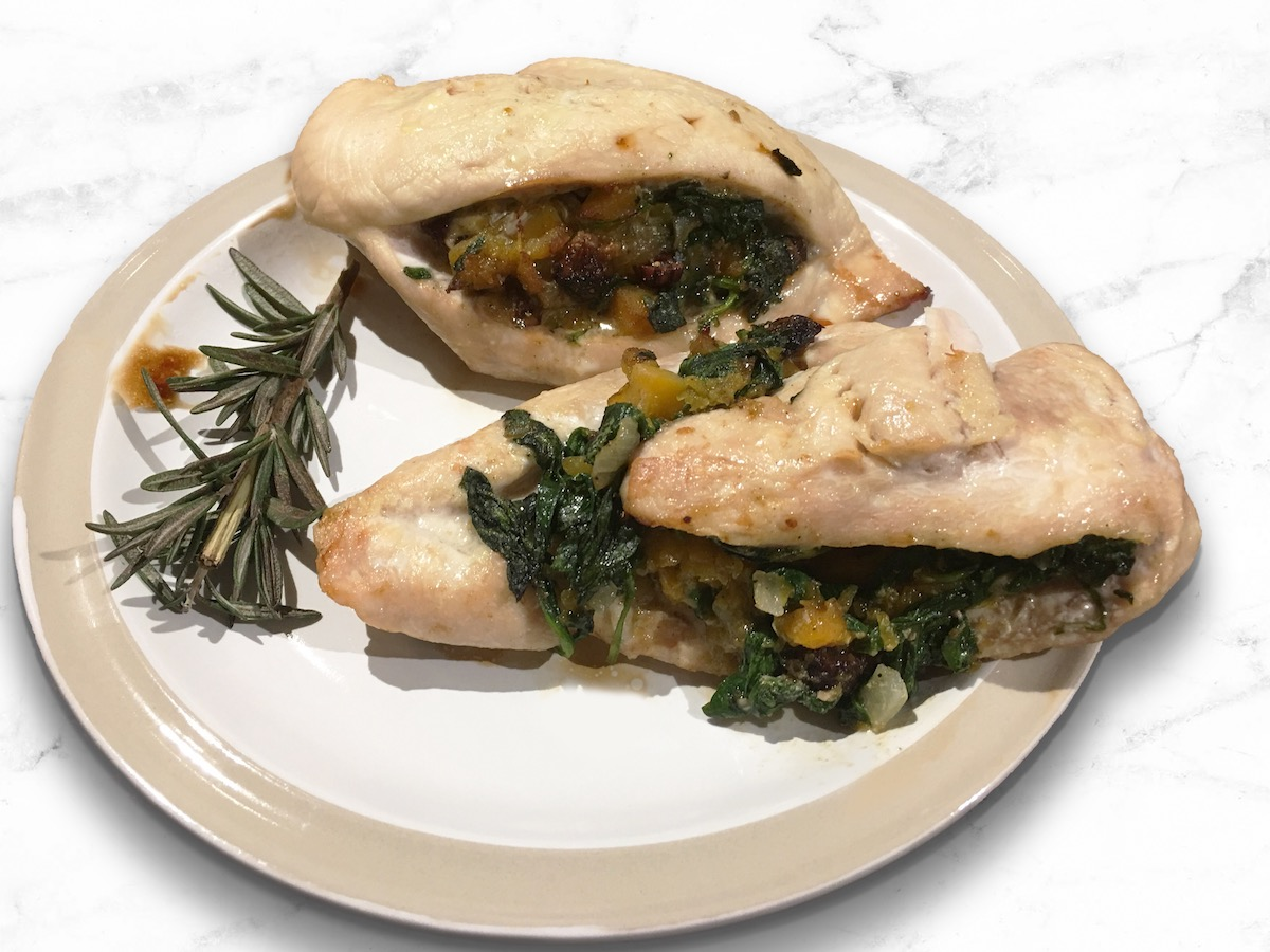 Fig and Butternut Squash Stuffed Chicken Breasts (Paleo)
