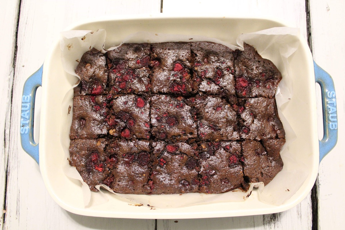 Raspberry Chocolate Brownies (Paleo)
