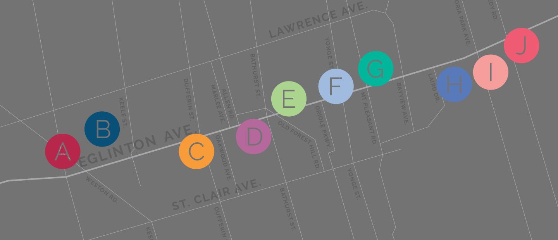 Crosstown Art Crawl Map