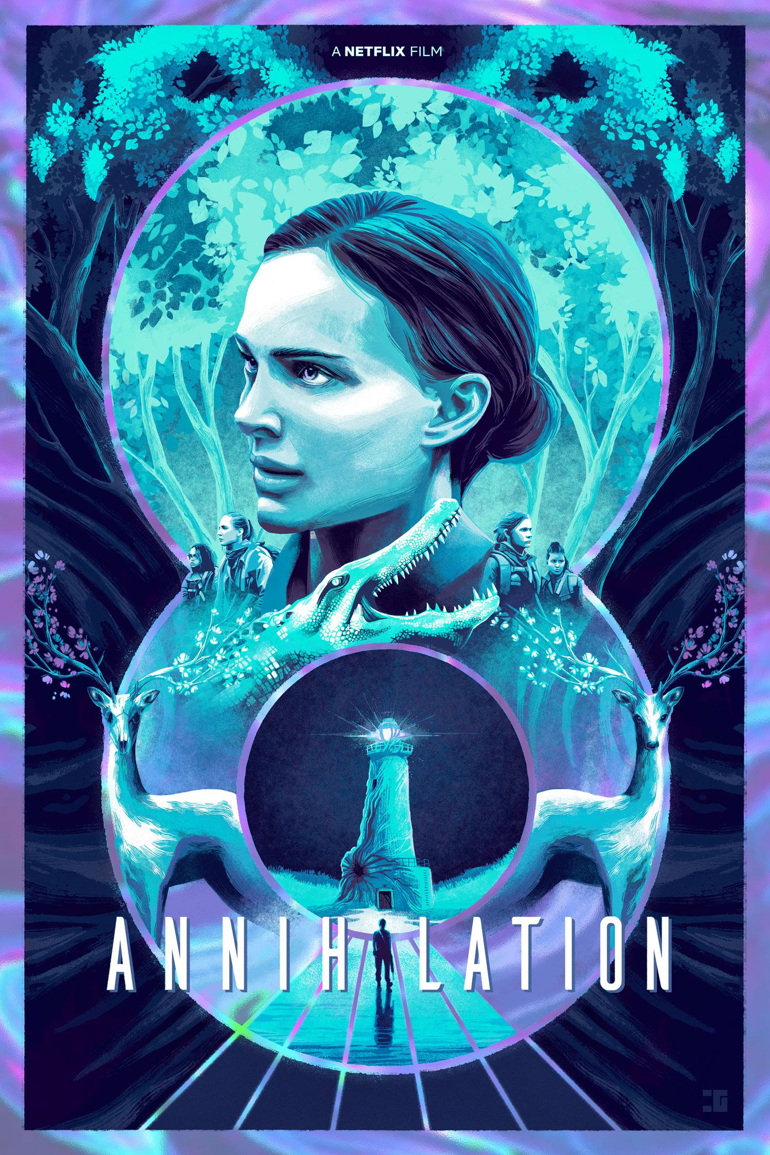 Annihilation Movie Poster, Netflix Tribute