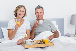 Happy Couple Relieved from Snoring Problems