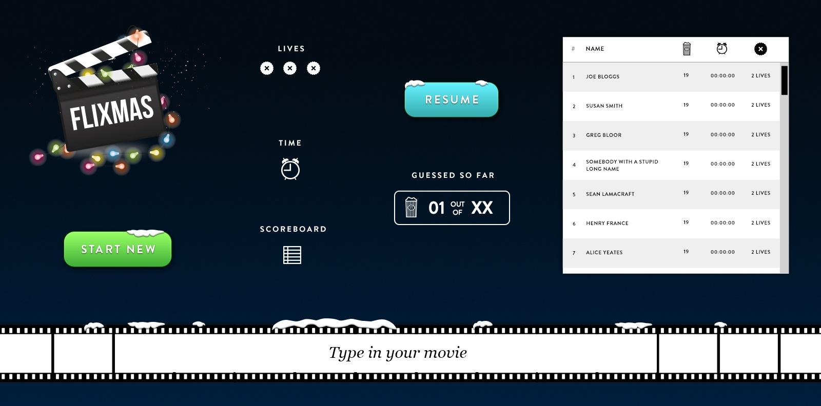 Flixmas - UI Elements