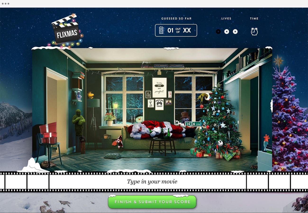 Flixmas - Game Screen