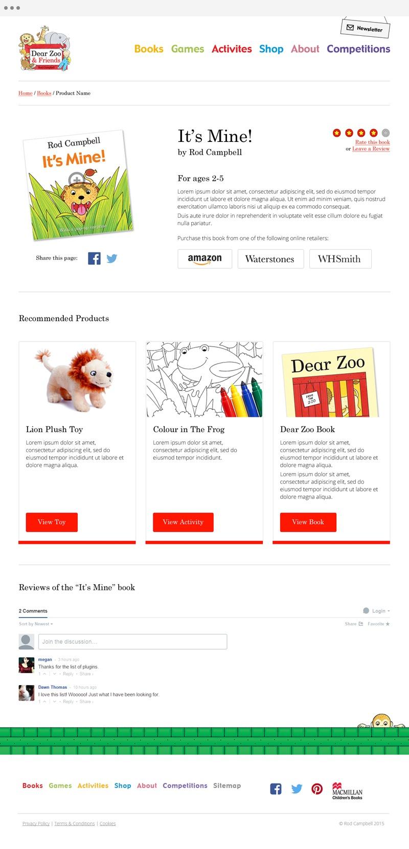 Dear Zoo - Book Detail Design